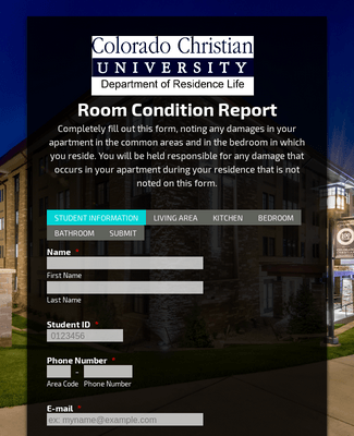 Room Condition Report (RCR)