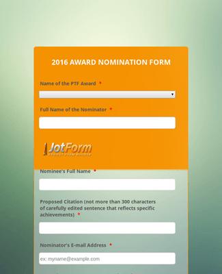 PTF Award Initial Nomination