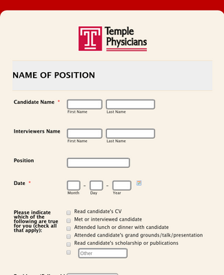 TPI Interview Evaluation Form