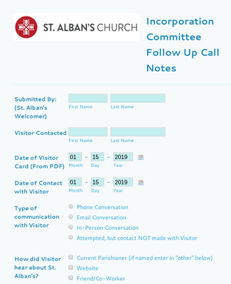 Incorporation Committee Follow Up Call Notes