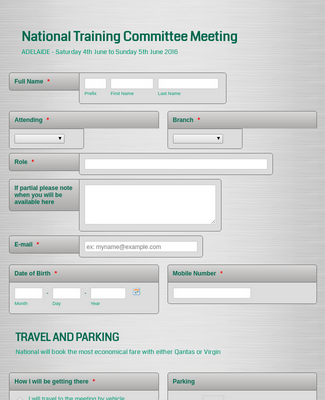 Flight and Hotel Accommodation Booking Form