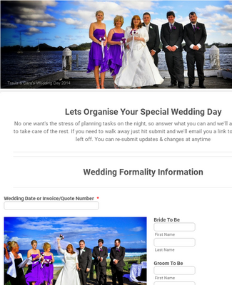 Wedding Event Organizer Form