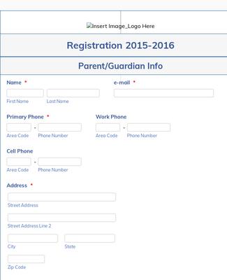 Student Registration Form For Dance Studio