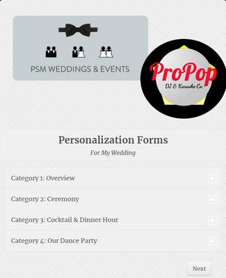Wedding DJ Planning Forms