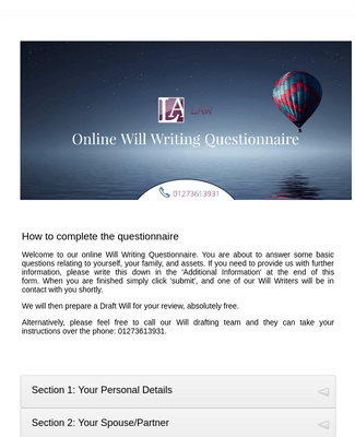 Online Will Writing Questionnaire