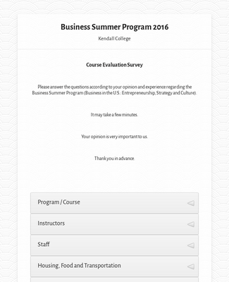 Business Summer Program 2016