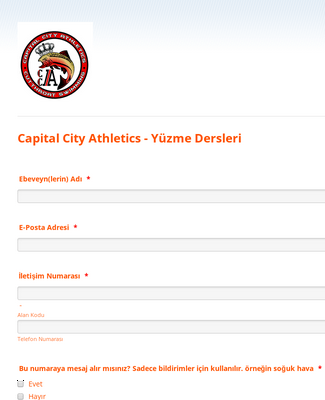 Capital City Athletics - Yüzme Dersleri