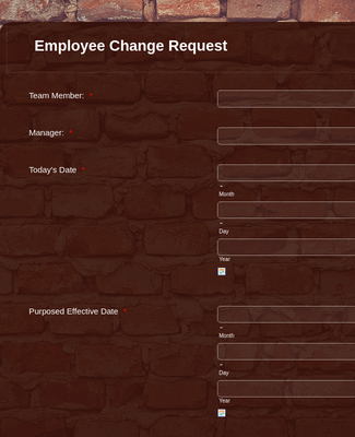 Employee Change Request