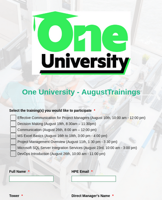One University Form Template
