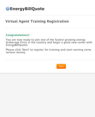 Virtual Agent Training Registration