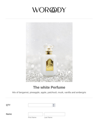 product purchase form (perfume)