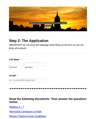 Step 2: The Application