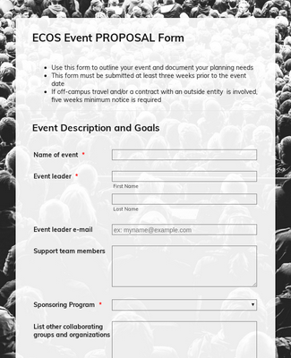 Event PROPOSAL Form 16-17