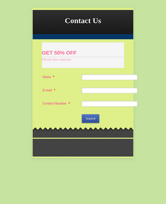 Contact Form with Header/Footer - Customized