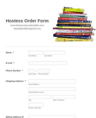 Hostess Order Form 2