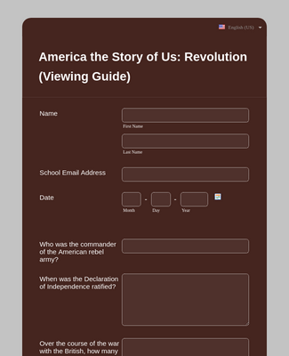 America the Story of Us: Revolution (Viewing Guide)