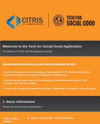 Grant Program Application