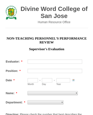 NTP (Supervisor's Evaluation)