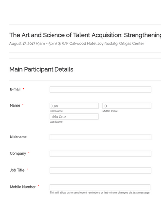 Employer Branding Workshop Registration Form
