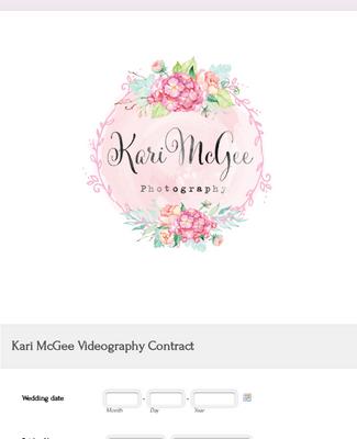 Kari McGee Videography Contract