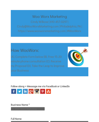 Woo Worx Marketing Services Form