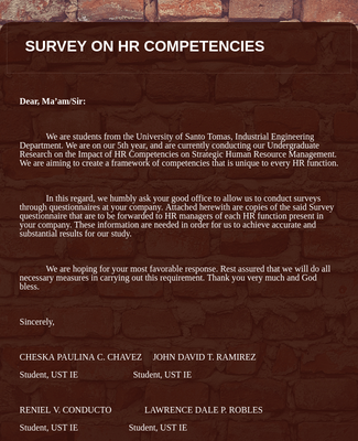 Human Resource Survey Research