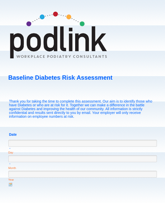 Baseline Diabetes assessment-simple