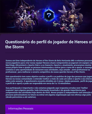 Heroes of the Storm Form