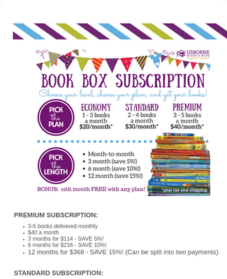 Book Box Subscription Information