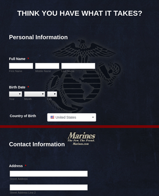 Marine Corps Information Form (RSS)