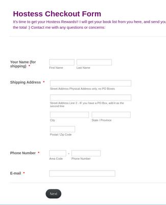 Book Order Form