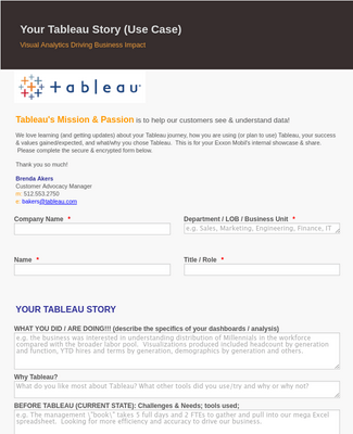 Your Tableau Story (Use Case) - Akers