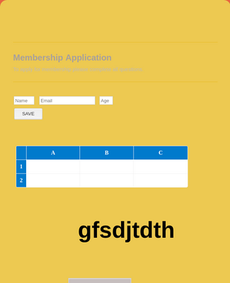 Membership Application Form