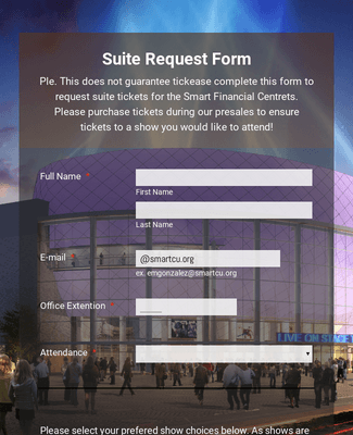 Suite Ticket Request