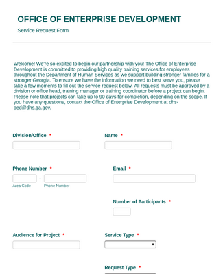 Service Request Form