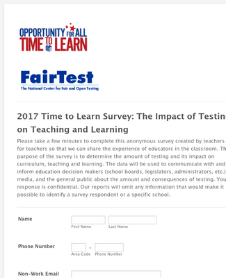 Time to Learn Survey Form