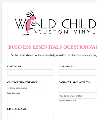Business Essentials Questionnaire