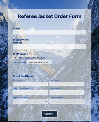 Referee Jacket Order Form