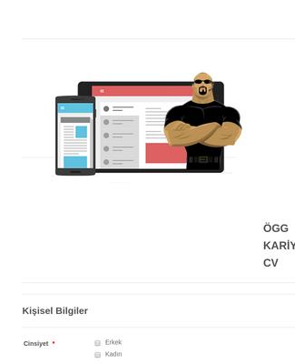 CV (İş Geçmişi/Kariyer) Kayıt Formu