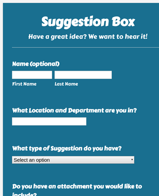 Suggestion Box Template