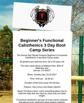 Beginner's Functional Calisthenics Boot Camp