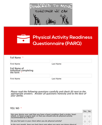 Physical Activity Readiness Questionnaire  parq