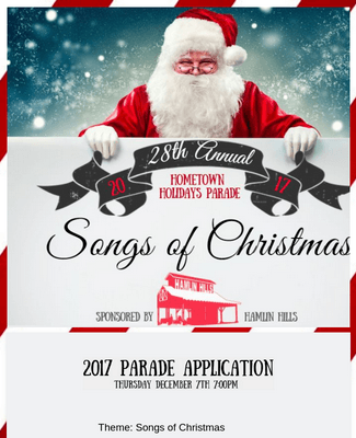 Hometown Holidays Parade Application Form