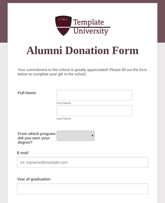 eWay Alumni Donation Form