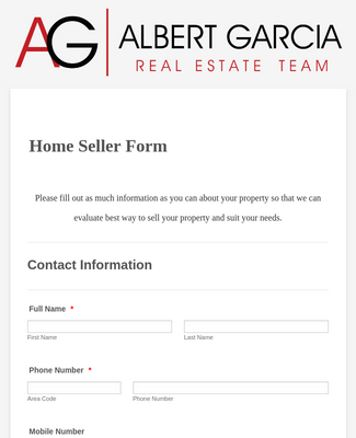 Home Seller Form