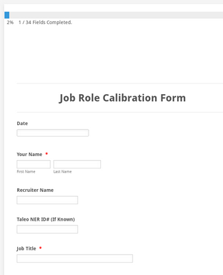 Job Role Calibration Formepicor