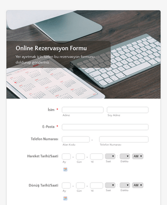Online Rezervasyon Formu
