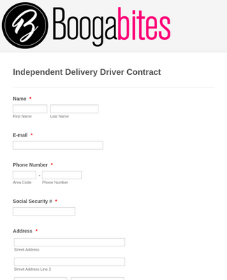 Independent Delivery Driver Contract