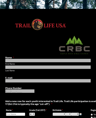 Trail Life Registration