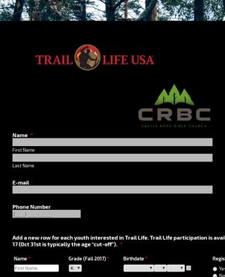 Trail Life Registration